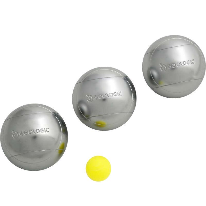 LEISURE PETANQUE BALLS Boules and Petanque - Discovery 300 Classic Boules GEOLOGIC - Boules and Petanque