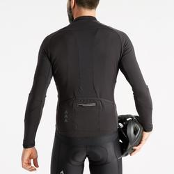 Fietsshirt met lange mouwen voor heren wielertoerisme RC500 zwart