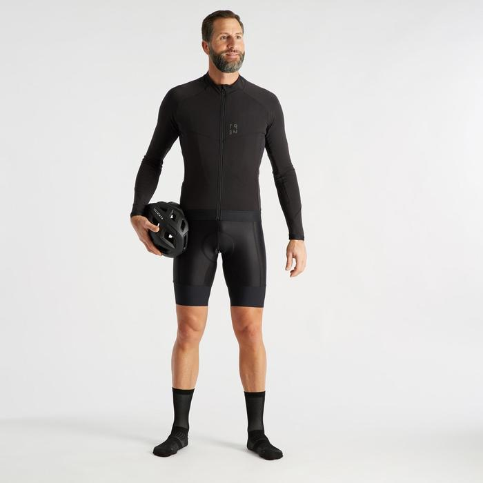 Wielershirt RC500 met lange mouwen voor heren zwart