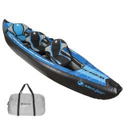 Kayak Canoa Hinchable De Travesía Sevylor MINNESOTA 2 o 3 Plazas Azul