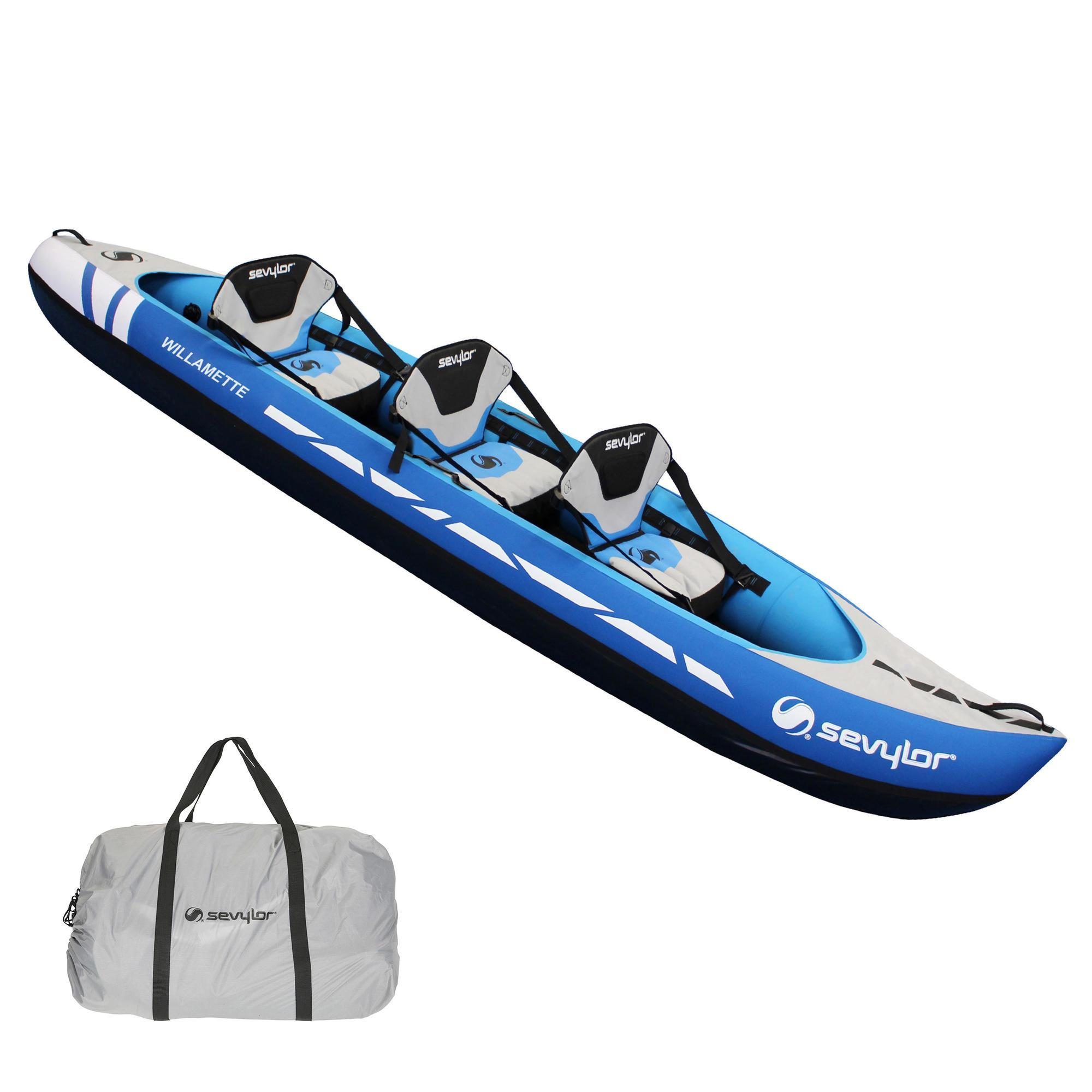 1efb57b4d Kayak Canoa Hinchable De Travesia Sevylor WILLAMETTE 3 Plazas Azul Sevylor