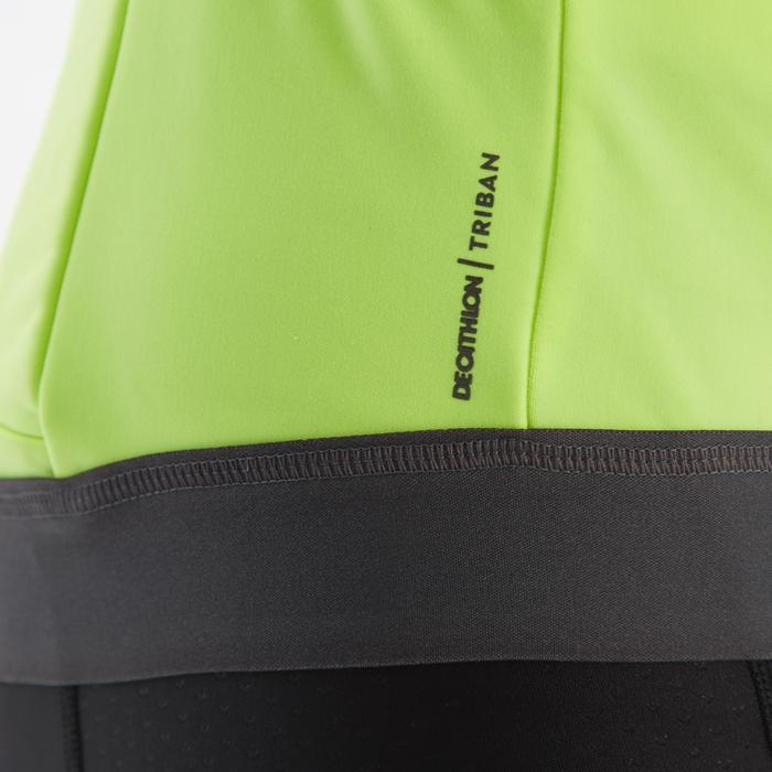 Fietsshirt met lange mouwen heren wielertoerisme RC500 fluogeel
