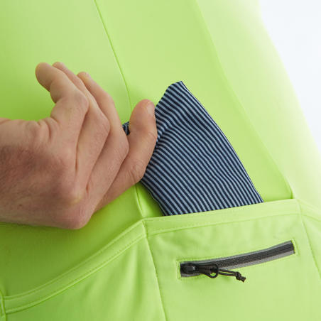 RC500 Long-Sleeved Road Cycling and Bike Touring Jersey - Neon Yellow