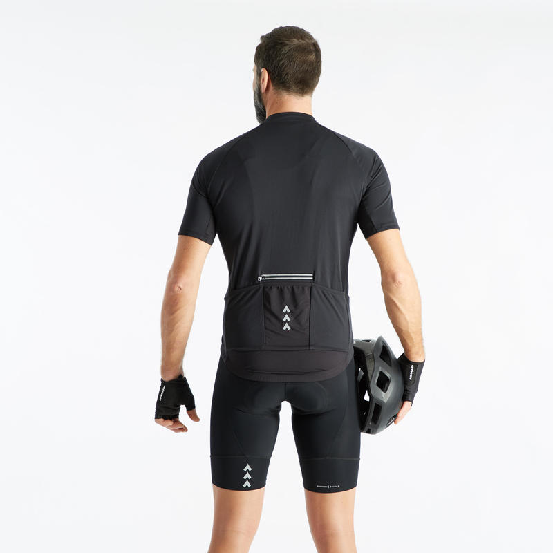 RC 100 Road Cycling and Bike Touring Bibless Shorts - Black