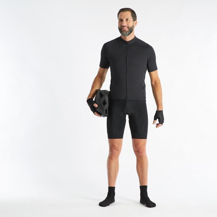 Fietsbroek zonder bretels voor heren RC100 zwart