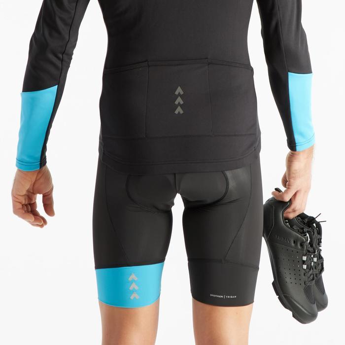 Fietsbroek zonder bretels voor heren RC100 zwart/blauw
