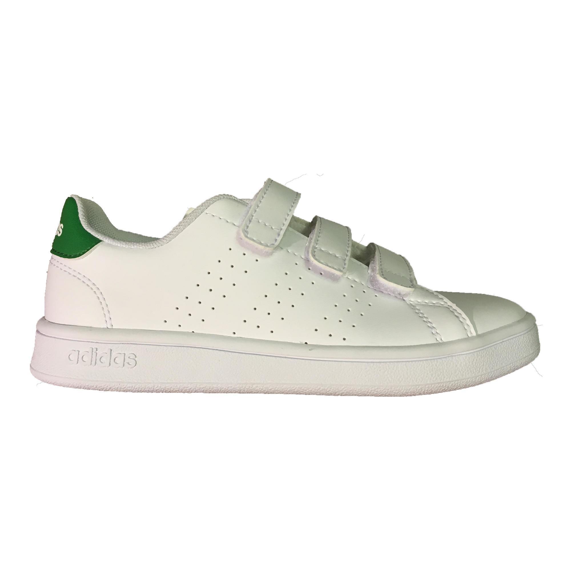Adidas Tennisschoenen voor kinderen Advantage Clean wit/groen
