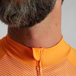 Maillot vélo route sans manches homme temps chaud RC500 orange-blanc