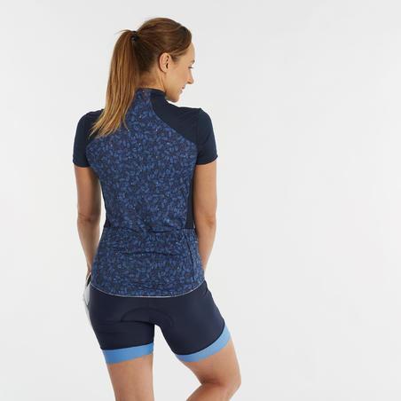 500 Women's Short-Sleeved Cycling Jersey - Liberty Blue