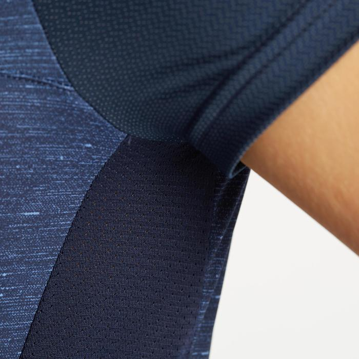 Wielershirt dames RC500 met korte mouwen marineblauw