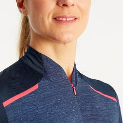 500 Women's Short-Sleeved Cycling Jersey - Navy