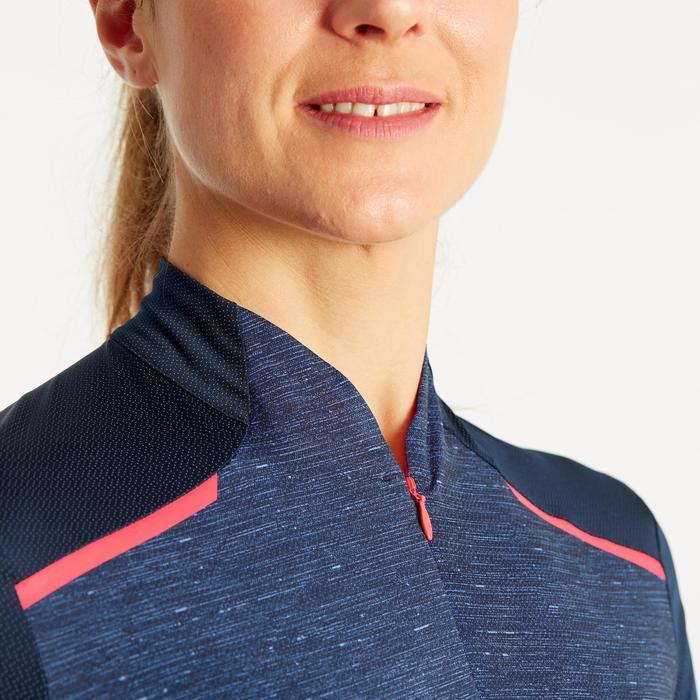 MAILLOT MANCHES COURTES VELO ROUTE FEMME TRIBAN 500 MARINE