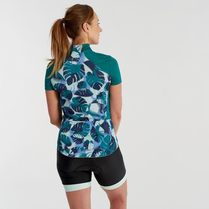 500 Women's Short-Sleeved Cycling Jersey - Green Palm