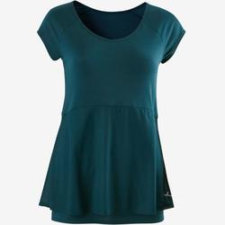 530 Women's Pilates & Gentle Gym T-Shirt - Petrol Blue
