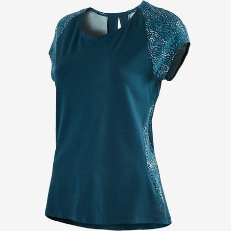 520 Women's Gentle Gym & Pilates T-Shirt - Turquoise