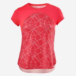T-shirt korte mouwen ademend S900 meisjes GYM KINDEREN rood AOP
