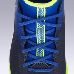 Voetbalschoenen kind Agility 500 MID HG blauw/zwart