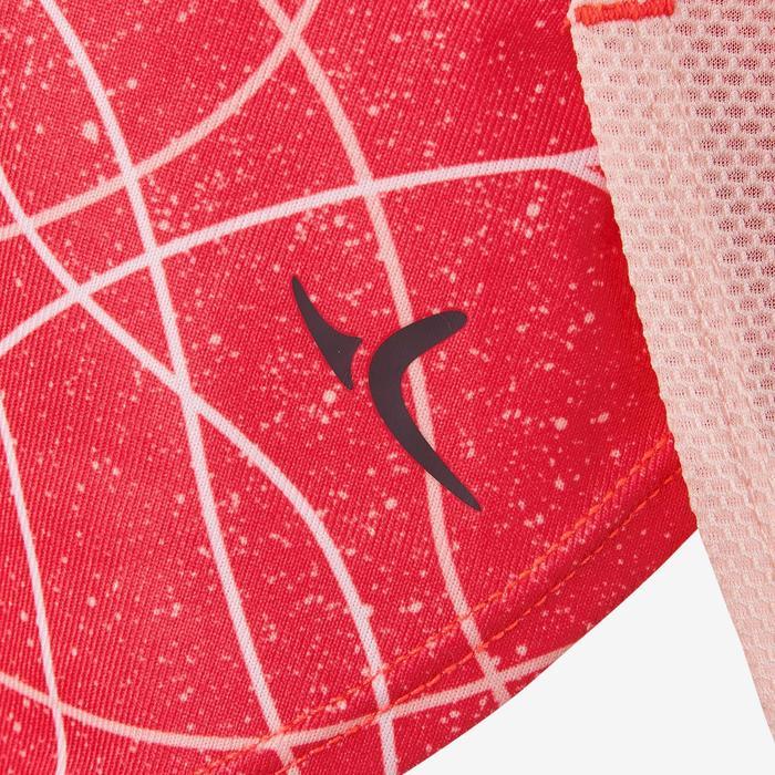 T-Shirt manches courtes respirant S900 fille GYM ENFANT rouge AOP