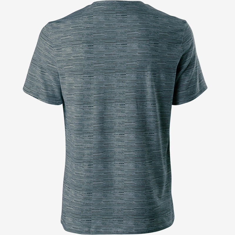 500 Regular-Fit Pilates & Gentle Gym T-Shirt - Dark Blue