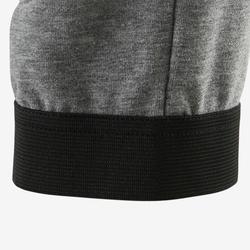 Lichte en ademende sportbroek voor gym jongens 500 slim fit katoen grijs