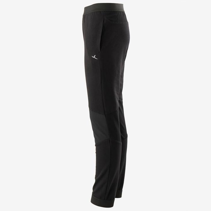 Jogginghose Baumwolle atmungsaktiv robust Slim leicht 500 Gym Kinder schwarz
