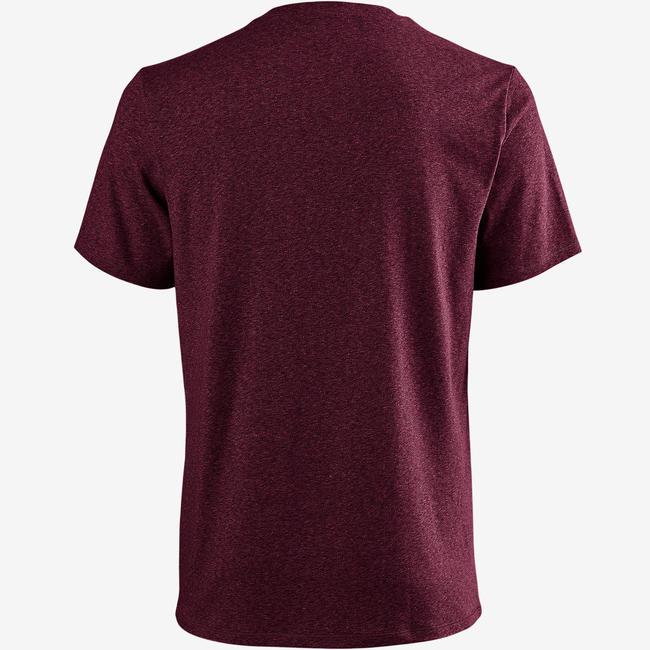 Men's Gym T-Shirt Regular Fit 500 - Mottled Burgundy