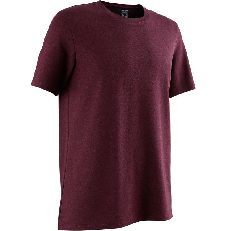 official photos 651d1 aa162 Abbigliamento uomo - T-shirt regular uomo gym pilates 500 bordeaux melange