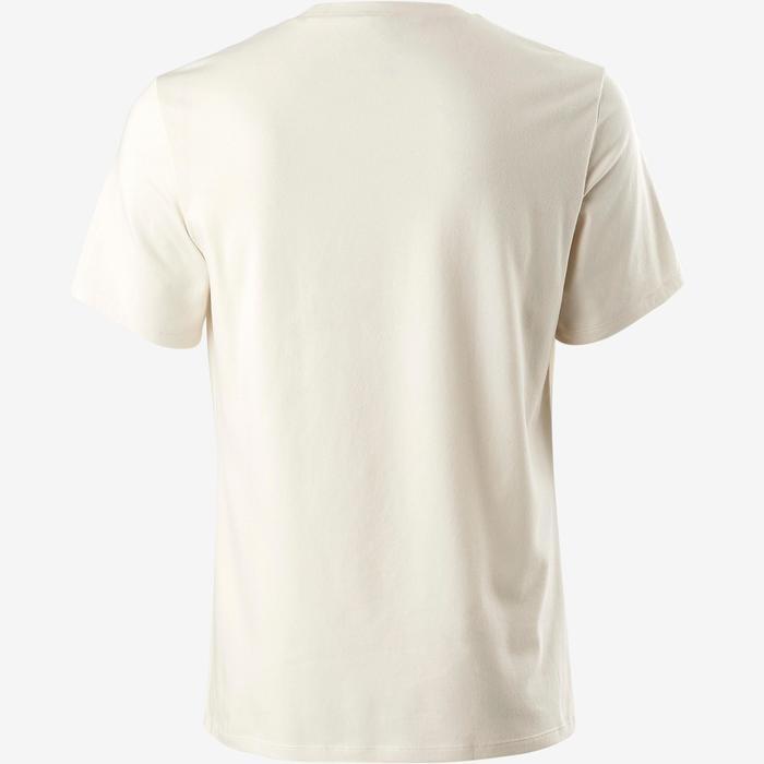 T-shirt voor pilates/lichte gym heren 500 regular fit greige