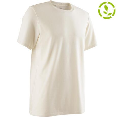 ec7e0ad1f24504 500 Regular-Fit Pilates   Gentle Gym T-Shirt - Beige