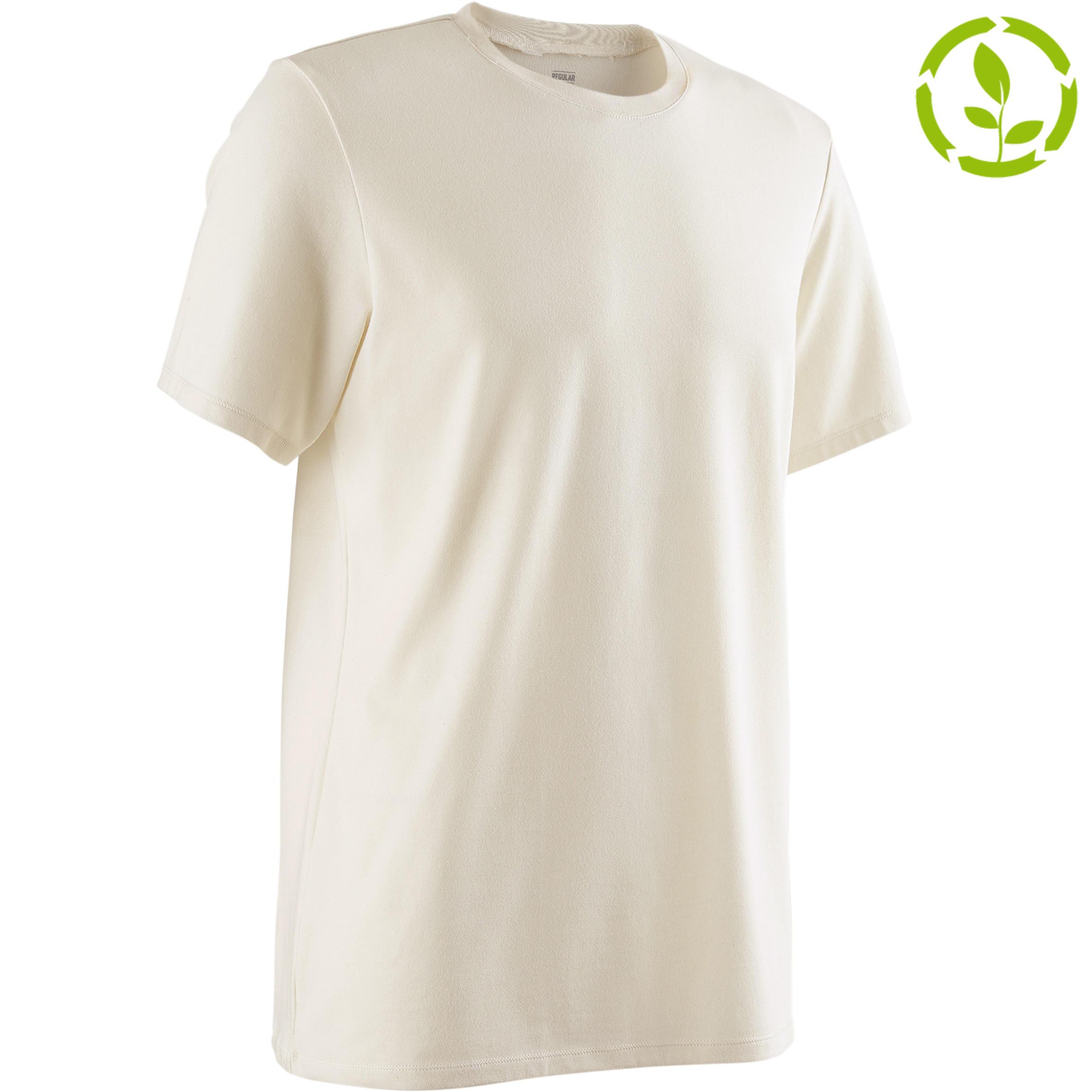 T-Shirt 500 Regular Pilates sanfte Gym Herren greige | Sportbekleidung > Sportshirts > Poloshirts | Domyos