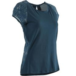 T-shirt 520 pilates en lichte gym dames turquoise
