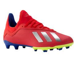 Botas de fútbol júnior X 18.3 FG rojo