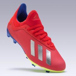 Botas Fútbol Adidas X 18.3 FG Niño Rojo