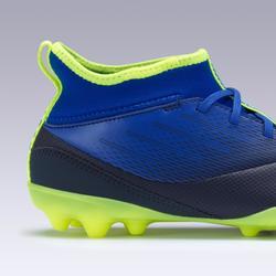 Voetbalschoenen voor kinderen Agility 500 hoog MG-zool indigo/zwart