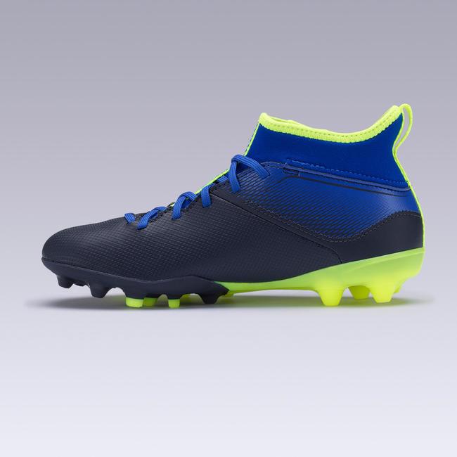 Kids' Football Boots Agility 500 Mid MG - Indigo Blue & Black