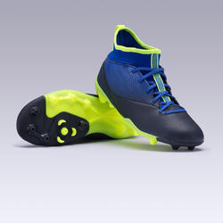 Kids' Football Boots Agility 500 Mid MG - Indigo Blue & Black