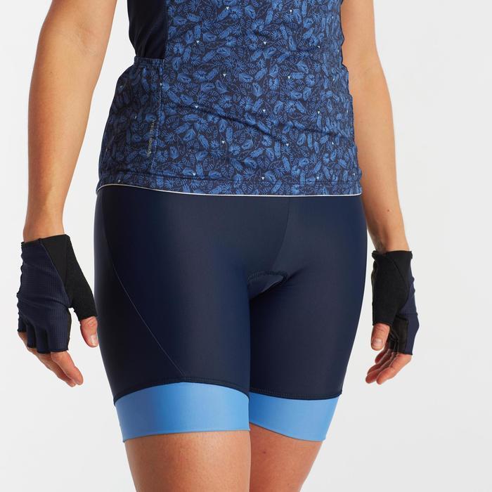 Fietsbroek zonder bretels 500 voor dames marineblauw