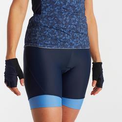 Wielrenbroek RC500 zonder bretels voor dames marineblauw