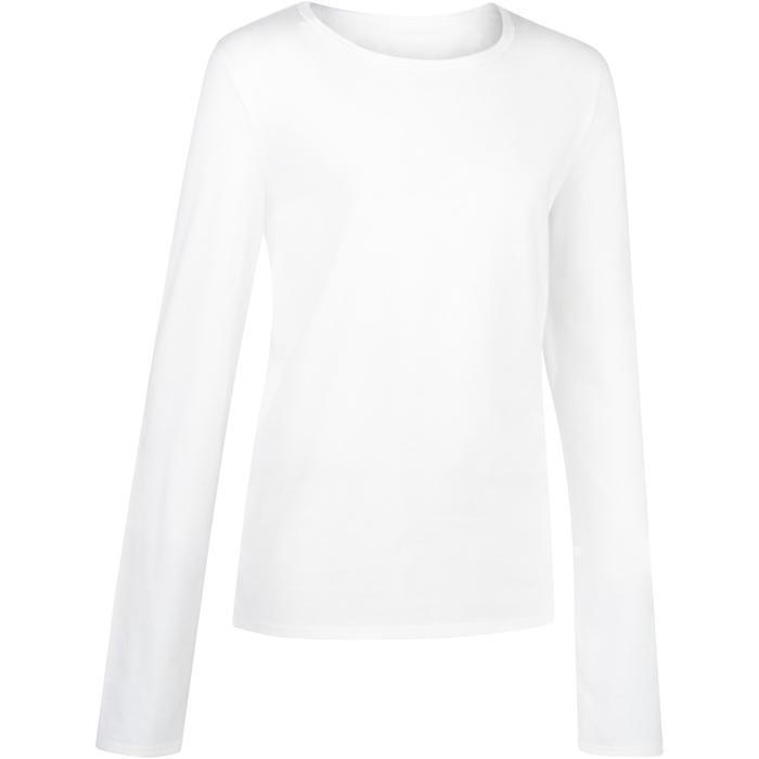 T-Shirt manches longues 100 garçon GYM ENFANT blanc