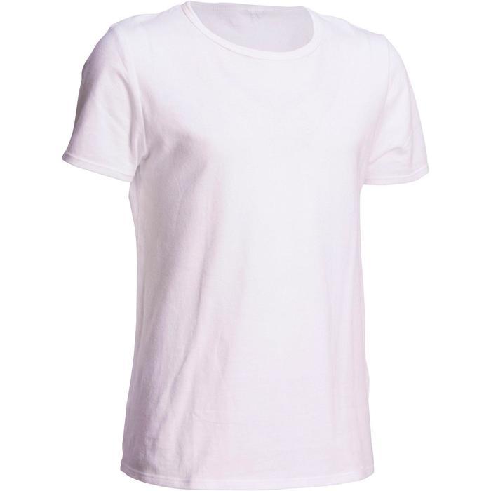 T-shirt korte mouwen 100 jongens gym kinderen wit