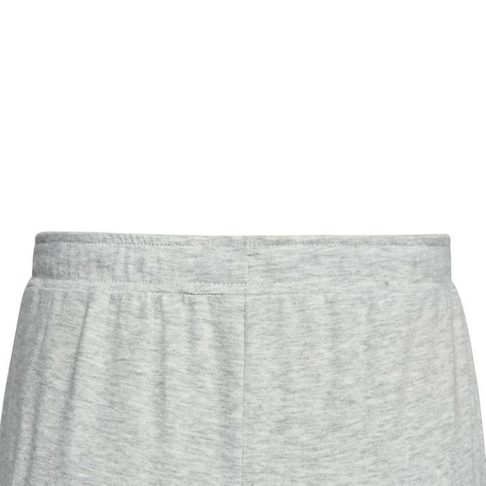 女童輕盈修身健身長褲100 - 雜灰色印花