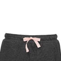 女童輕盈修身健身長褲100 - 柏油灰印花