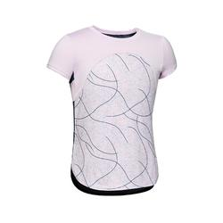 S900 Girls' Breathable Short-Sleeved Gym T-Shirt - Purple