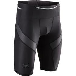 Mallas Cortas Shorts Deportivos Trail Running Kalenji Hombre Negro/Gris