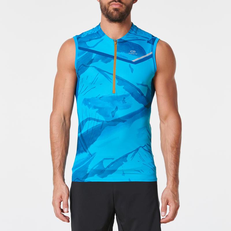 เสื้อกล้ามใส่วิ่งเทรลสำหรับผู้ชายรุ่น Perf (สีฟ้า/Turquoise)