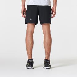 Pantalon Corto Deportivo Trail Running Kalenji Hombre Negro