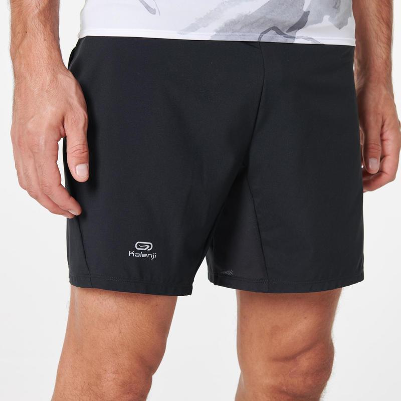 กางเกงขาสั้นทรงหลวมใส่วิ่งเทรลสำหรับผู้ชาย (สีดำ)