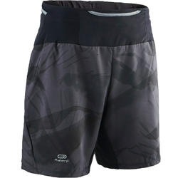 Men's trail running baggy shorts graph grey