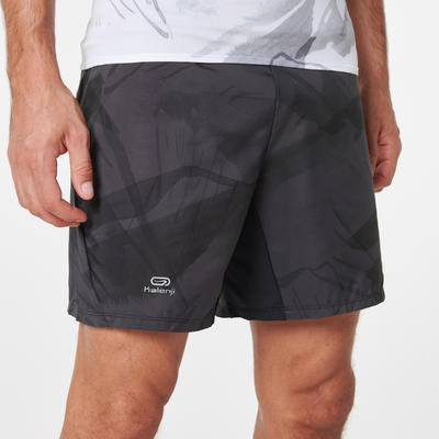 Men's trail running baggy shorts graph grey