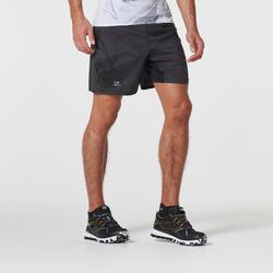 Pantalon Corto Deportivo Trail Running Kalenji Hombre Gris Grafito